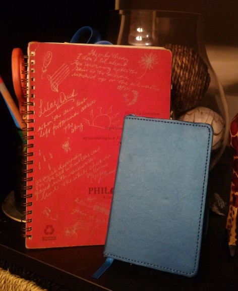 Two of my tiny notebooks - 1997 and 2015
