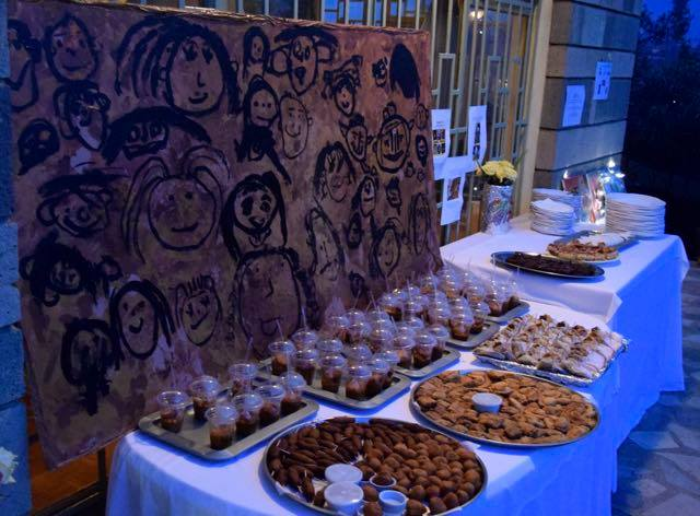 art auction with food
